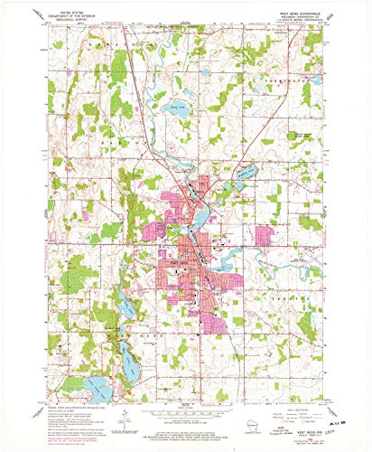 YellowMaps West Bend WI topo map, 1:24000 Scale, 7.5 X 7.5 Minute, Historical, 1959, Updated 1977, 27.26 x 22.47 in - Tyvek (By Wi Wingate)