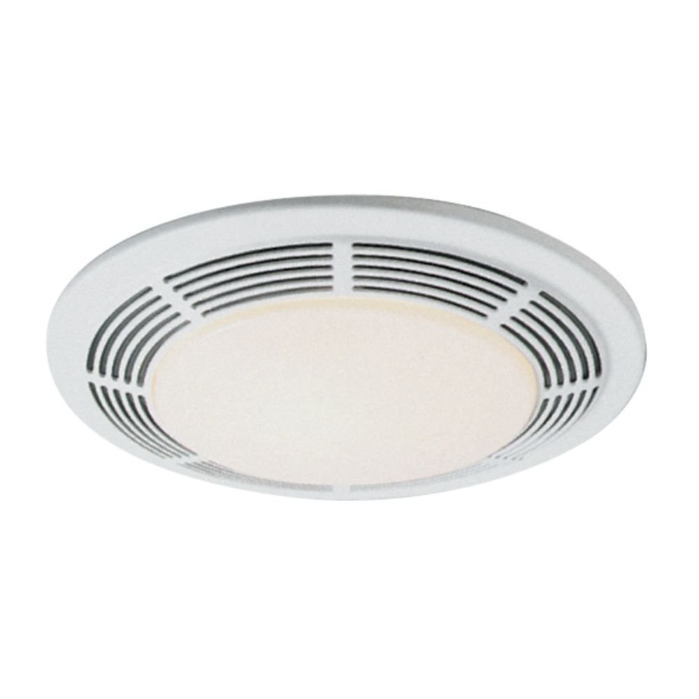 Nutone 8663RP 100 CFM Fan/100-Watt Incandescent Light with Glass Lens,  White Polymeric Grille and 7-Watt Nightlight (Renewed)