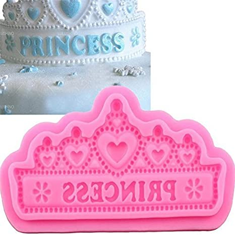 Princesa corona forma silicona moldes para tarta de Boda Pastel frontera fondant decoración de pasteles herramientas
