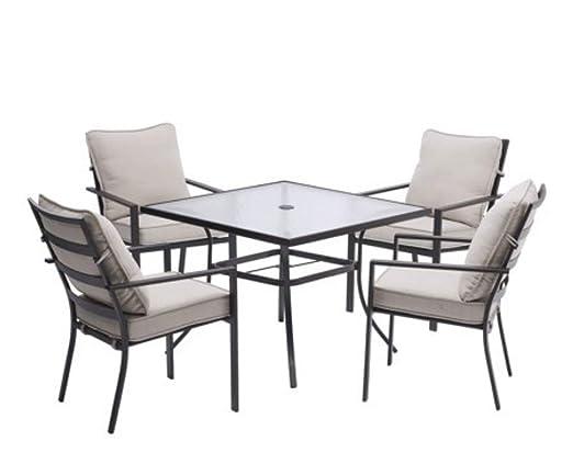 Amazon.com: Juego de comedor de patio al aire libre de 5 ...