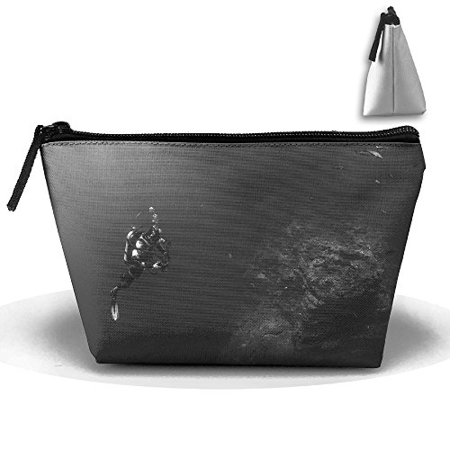 Diver Scuba Diving Makeup Bag Large Trapezoidal Storage Travel Bag Zipper Waterproof ()