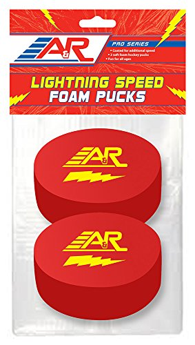 A&R Sports Pro Series Lighting Speed Foam Pucks (Pack of 2)