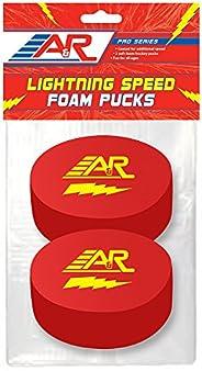A&R Sports Pro Series Lighting Speed Foam Pucks, 2