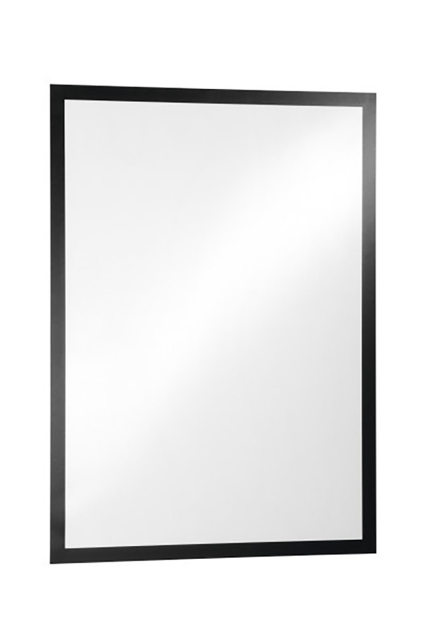 Durable DURAFRAME 488201 Black Retail A4 Magnetic Frame with Self-Adhesive Backing Display Frame for POS Pack of 10 Photos Notices Wall and Windows