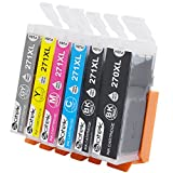 Sotek Compatible Ink Cartridge Replacement for PGI-270XL CLI-271XL, Work with PIXMA MG7720 TS8020 TS9020 (1 BK, 1 PGBK, 1C, 1M, 1Y, 1Gray, 6 Pack)