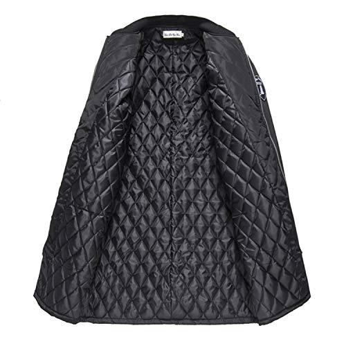 Décontractés Pardessus Zippés Épais Trenchs Black Vestes Longs D'hiver xPH81wnE