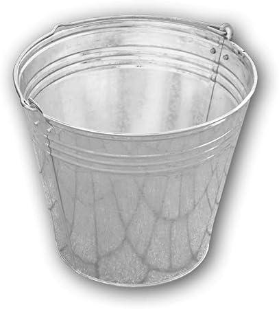 Bradas J5316 3439 - Cubo de Basura para jardín (7 L, galvanizado): Amazon.es: Hogar