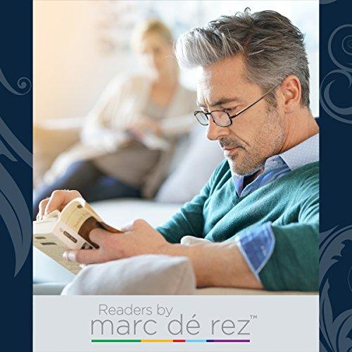 Marc De Rez Foldable Reading Glasses +2.50-2 Pack - Mini Flip Top Cases - Gunmetal Grey Folding Prescription Readers For Men and Women by Marc De Rez (Image #6)