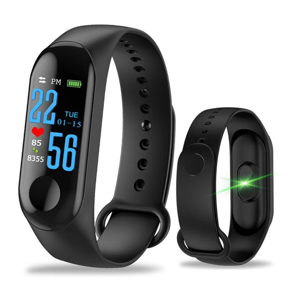 Aubess Pulsera Inteligente Fitness Tracker, M3, Pantalla táctil de Color, Impermeable, IP67, GPS, Monitor de sueño, frecuencia cardíaca, presión ...