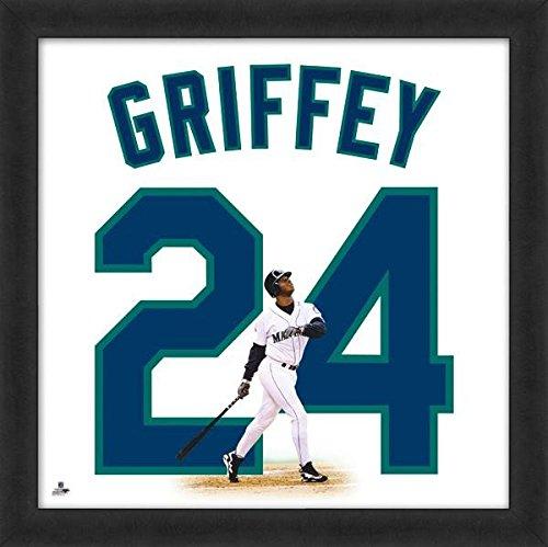 Ken Griffey Jr. Mariners Jersey Uniform 20 x 20 Framed Photo - Licensed MLB Baseball (Framed Ken)