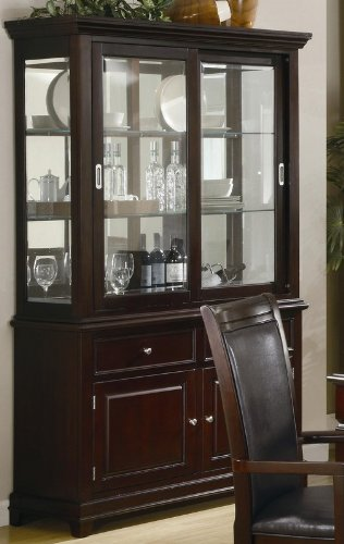 walnut china cabinet - 5