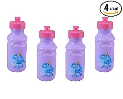 Amazon.com: Disney - Juego de 4 botellas de agua para niños ...