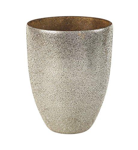 B. Boutique 7CDL033 - tazón de caché con efecto arruga, talla única, color plateado