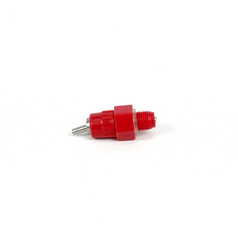 Aeromdale 10 Pack Fowl Water Nipple Drinker Chicken Feeder Poultry Hen Screw In Style,Red
