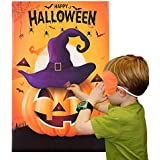 MISS FANTASY Halloween Party Games Pin The Nose on The Pumpkin Game for Kids Halloween Costume Party Favors Decorations (PIN The Pumpkin)