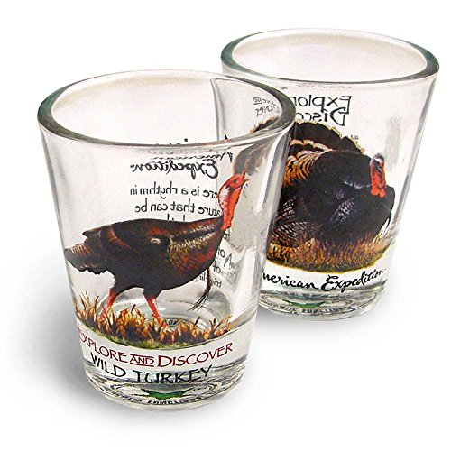 American Expedition Set of 2 Shot Glasses (Wild Turkey)