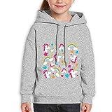 Teenager Pullover Hoodie Sweatshirt Hip Hop Unicorn Rainbow Teen's Hooded for Boys Girls