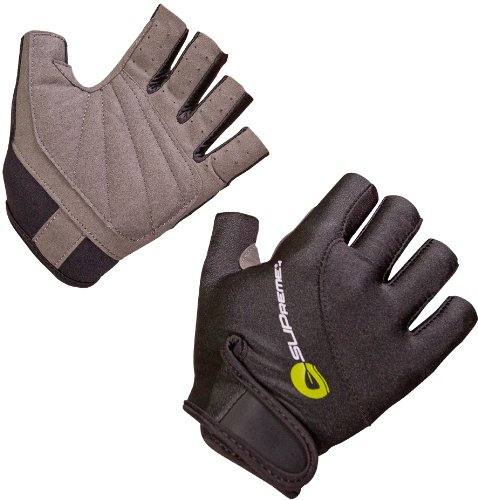 Supreme Stacked Fingerless Gloves, Black, Medium - Standup Paddleboarding, Kayaking & Water Sports