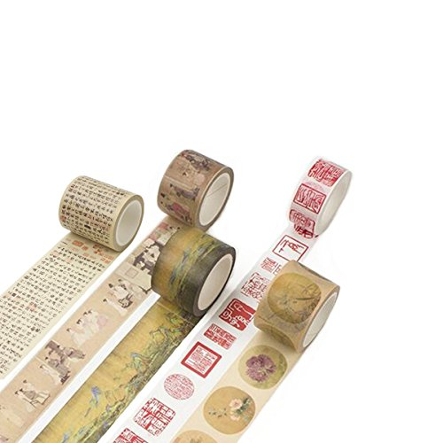 Wehous 5 Rolls Masking Tape Set Chinese Element