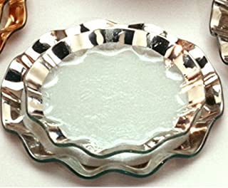 product image for Annieglass Ruffle Glass Salad Plate - Platinum Trim