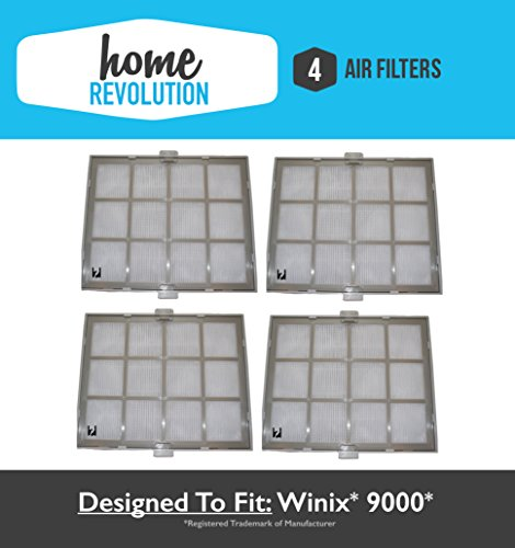 4 Winix 9000 Home Revolution Brand Replacement Air Purifier Filter & Casing, Compare to Part # 119010