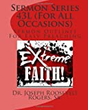 Sermon Series 43L (for All Occasions), Dr. Joseph Roosevelt, Joseph Rogers,, 1499666780