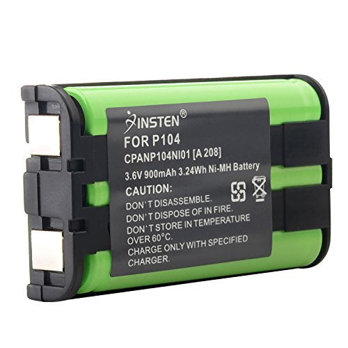 INSTEN Compatible Ni-MH Battery for Panasonic HHR-P104 Cordless Phone Type 29 - Cordless Amp Ghz 5.8