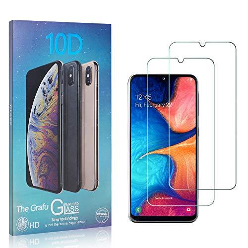The Grafu Displayschutzfolie für Galaxy A20E, 3D Touch, Blasenfrei, 9H Ultra klar Schutzfolie aus Gehärtetem Glas Kompatibel mit Samsung Galaxy A20E, 2 Stück