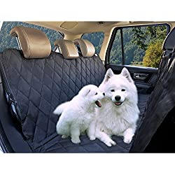 Feezen Dog Seat Cover Car Seat Cover for Pets Hammock Waterproof - Anti-Dirt Quilted Polyester - Non-Slip Bottom & Seat Anchors Pet Seat Cover for Cars,Trucks, SUVs
