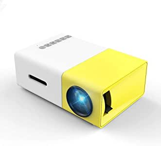 Projector, Mini Portable LED Projector, Smartphone Pocket Projector with AV USB SD HDMI for Video/Movie/Game/Home Theater Video Projector