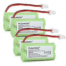 Floureon 4 Packs 2.4V 400mAh NiMH Rechargeable Cordless Phone Battery for VTech BT-166342 BT166342 BT-266342 BT266342 BT183342 BT283342