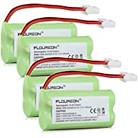 Floureon 4 Packs 2.4V 400mAh NiMH Rechargeable Cordless Phone Battery for VTech BT-166342 BT166342 BT-266342 BT266342 BT183342 BT283342