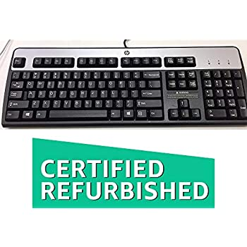 HP 435302-001 KB-0316 104 Key Black Silver PS2 Keyboard (Certified Refurbished)
