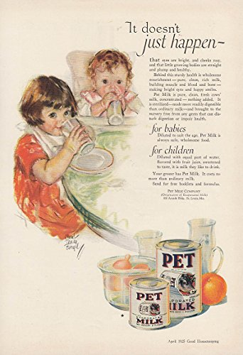 It doesn't just happen Pet Evaporated Milk ad 1925 Maud Tousey Fangel from The Jumping Frog