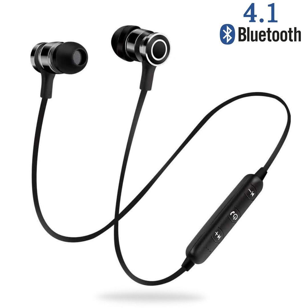 Auricular Bluetooth, NINE CUBE Auriculares Deportivos magneticos con Mic, Auriculares inalambricos Bluetooth 4.1, IPX4 Anti-Sudor,ecnología APTX y de Ruido ...