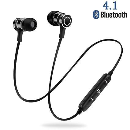 Auricular Bluetooth, NINE CUBE Auriculares Deportivos magneticos con Mic, Auriculares inalambricos Bluetooth 4.1,