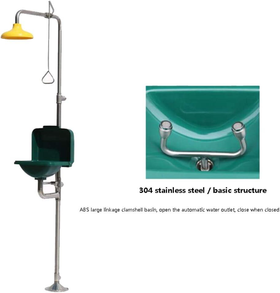 JL Seguridad Lavadora de Ojos y Cara con Cubierta Emergencia combinada Estación de Ducha lavaojos para Limpieza de Emergencia