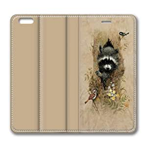 Children's Wee Raccoon iPhone 6 Plus Smart Leather Cover