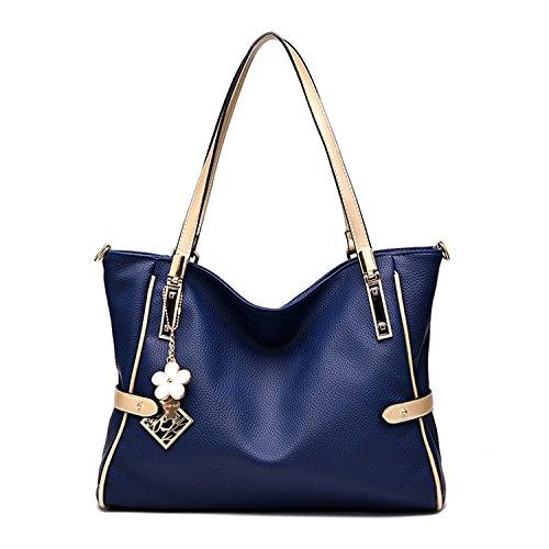 Bag Handbags Shoulder Satchel Navy Women Bag Myleas Top Handle 51WqXZwS