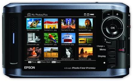 Epson P-6000 80GB Multimedia Storage Drive, Photo Viewer and Audio-Video Player with 4-Inch LCD