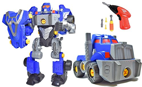 3-in-1 Take-A-Part Robot Toy – Includes Electric Drill, Screwdriver and Tools (42 Pieces)