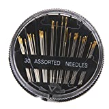 Buytra Assorted Hand Sewing Needles Embroidery Craft Quilt Sew Case, 30-Count