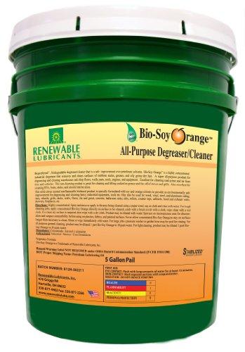 Renewable Lubricants Bio-Soy Orange All Purpose Cleaner, 5 Gallon Pail by Renewable Lubricants
