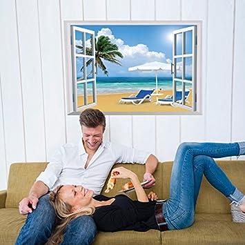 Fenster König xmjr wall decoration view kreative das fenster wand wohnzimmer
