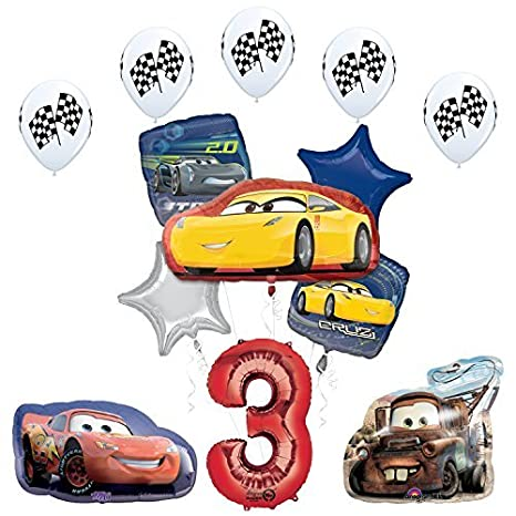 Amazon The Ultimate Disney Pixar Cars 3 3rd Birthday Party