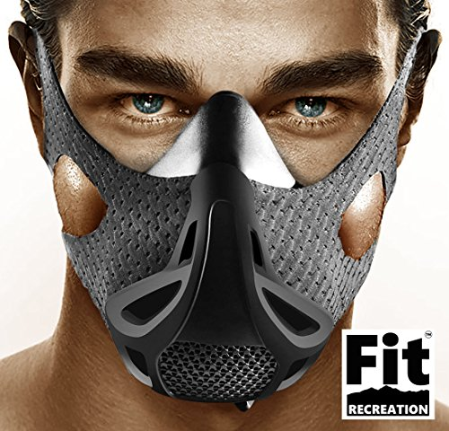 Intermediate Running Line (Altitude Workout Mask by FitRecreation - Workout Mask for Running, Biking, and Fitness - High Altitude Simulation Mask For Top Performance - Restricting Breathing Mask - 4 Level Workout Mask)