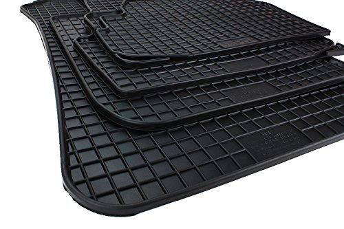 Alfombrillas de goma Kfzpremiumteile24 para coche, calidad original, 4 piezas, color negro