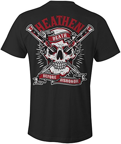 Heathen Death Before Dishonor T-Shirt (X-Large, Black) (Before The Nation)
