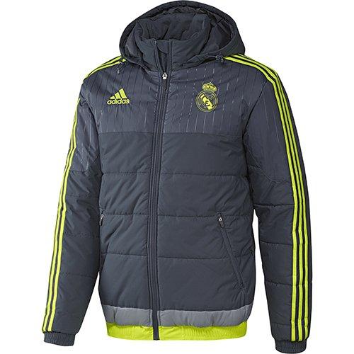 2015-2016 Real Madrid Adidas Padded Jacket (Grey)