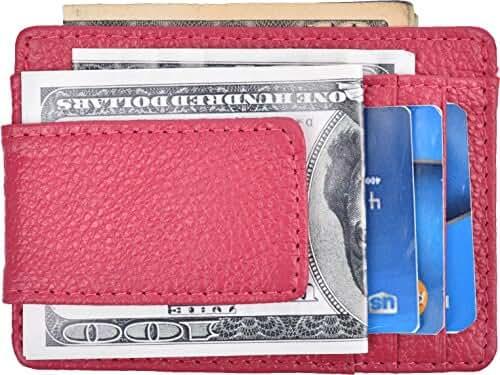 RFID Blocking Magnetic Money Clip Slim Wallet Men Minimalist Front Pocket Wallet